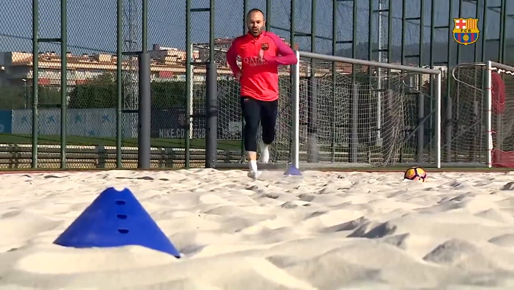 Iniesta Working Hard