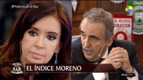 Moreno cuestionó a Cristina por no poner las manos en el fuego por los compañeros