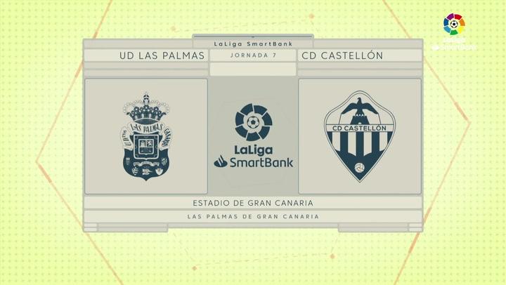 LaLiga SmartBank (J7): Las Palmas 2-1 Castellón