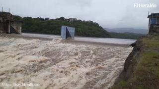 Represa Los Laureles se desborda por lluvias en las últimas horas