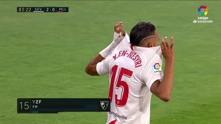 Gol de En Nesyri (2-0) en el Sevilla 2-0 Mallorca