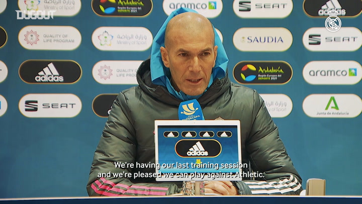 Zinedine Zidane: 'We have to put on a good performance'