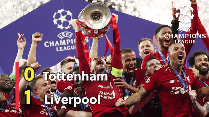 El Liverpool, campeón de Europa por sexta vez, tras batir al Tottenham en la final de la Liga de Campeones