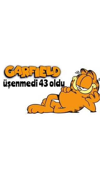Garfield üşenmedi 43 oldu