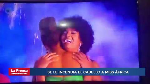 Se le incendió su cabello en plena coronación a Miss África