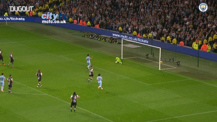 Sergio Agüero's goals vs Newcastle United