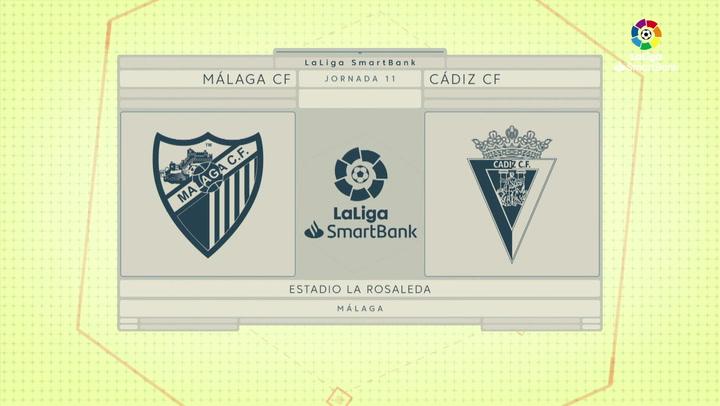 Resumen 90' Málaga CF - Cádiz CF J11