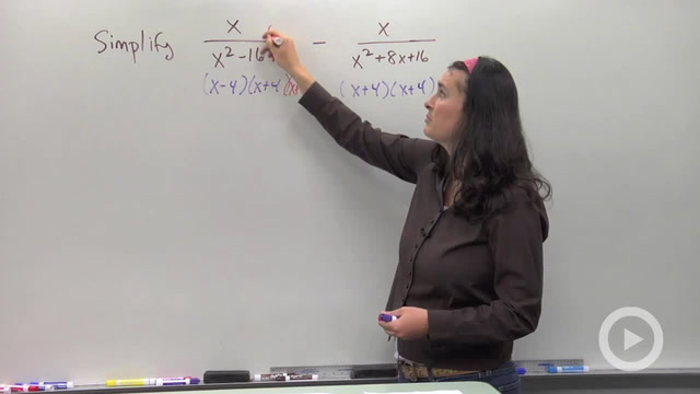 Adding and Subtracting Rational Expression - Problem 4