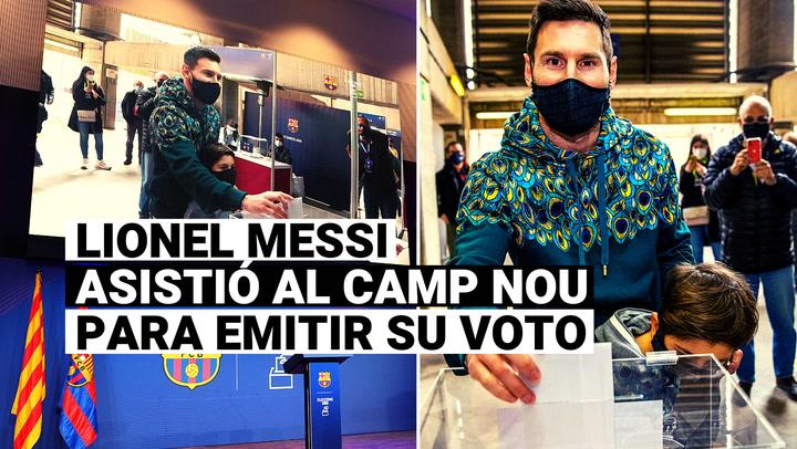 Barcelona: Lionel Messi participó en las elecciones presidenciales del club