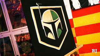 Star Wars and Golden Knights mashup at downtown art shop