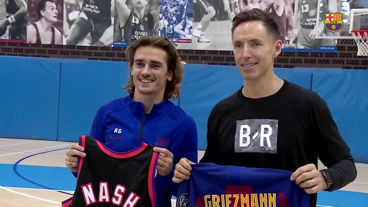 Steve Nash, propietario del Mallorca visita a Griezmann