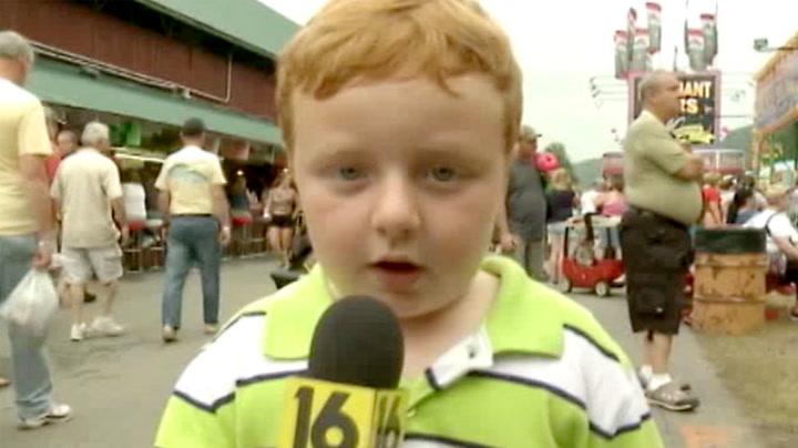 Femåring stjeler showet på direkten