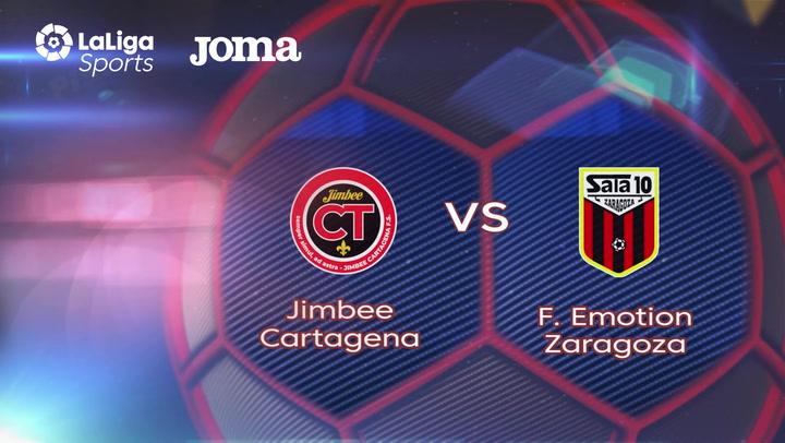 LNFS. Jornada 3: Jimbee Cartagena - Futbol Emotion Zaragoza (2-3) , Temp 2019-2020