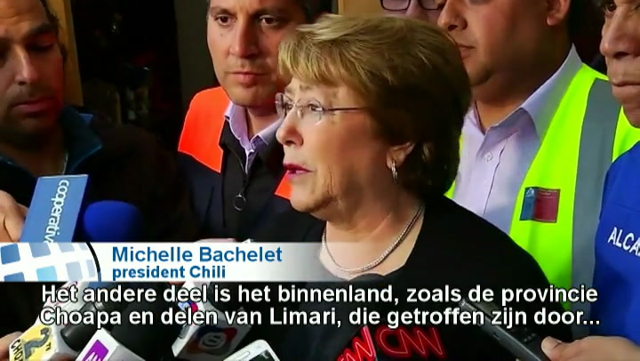 President Chili noemt schade beving 'enorm'