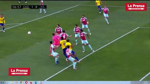 ¿Hay fuera de juego del 'Choco' Lozano? El gol que el VAR anuló al Cádiz ante Villarreal