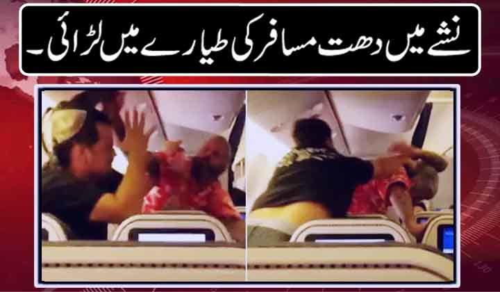 Drunk passenger starts fighting on plane
