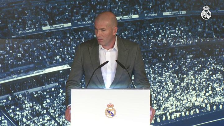 """Zidane: """"Estoy aquí porque quiero mucho a este club"""""""