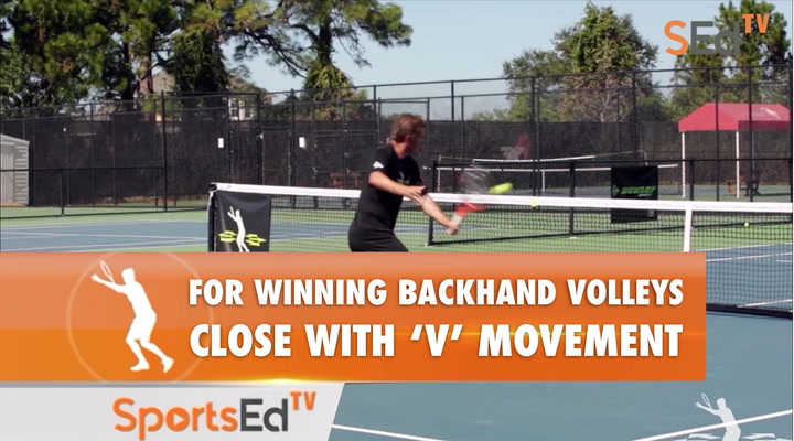"""Backhand Volley - Positioning & """"V"""" Movement With Ellis Ferreira"""