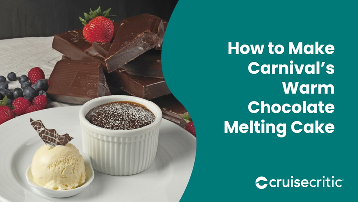 How To Make Carnival Cruise Line's Famous Hot Chocolate Fondant Cake - Video