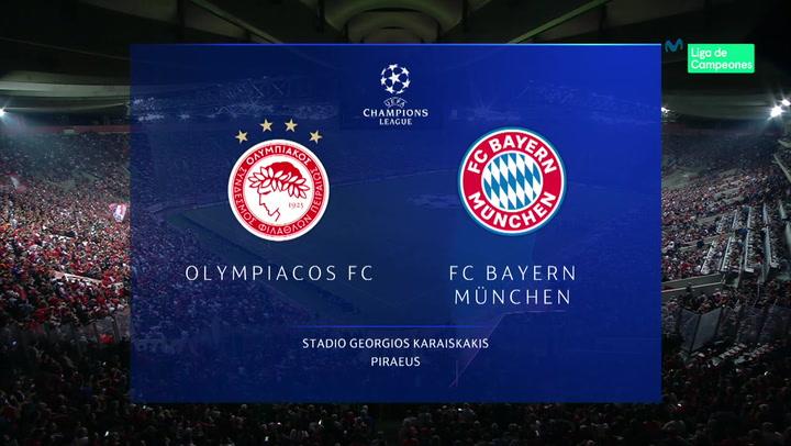 Champions League: Resumen y Goles del Partido Olympiacos-Bayern