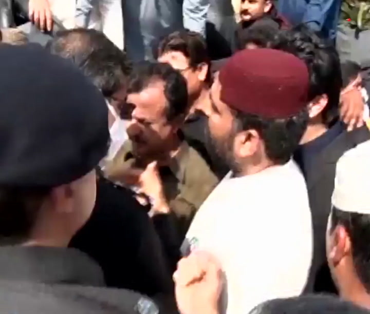 PTI's Haleem Adil Sheikh detained by police as violence mars PS-88 by-polls