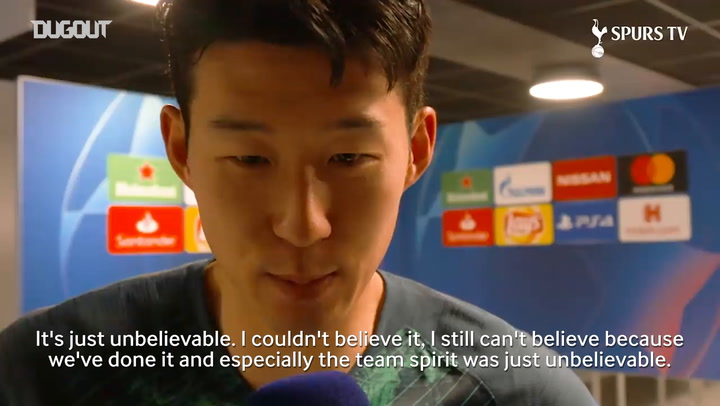 Son Heung-min Always Believed Spurs Would Score
