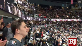 Crowd goes crazy moments before puck drop
