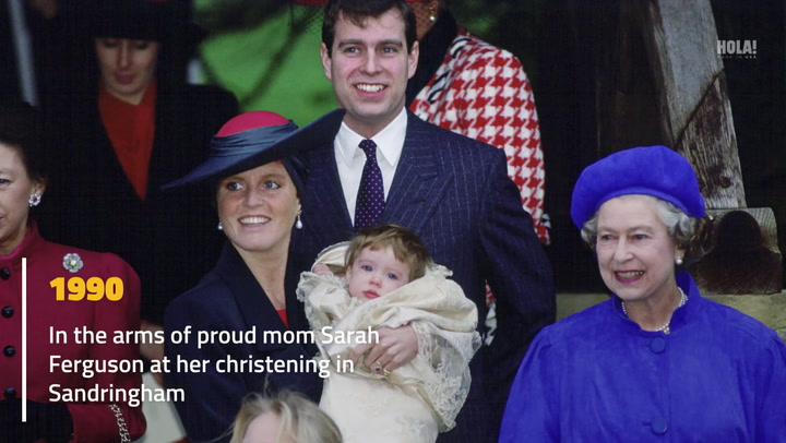 Princess Eugenie through the years