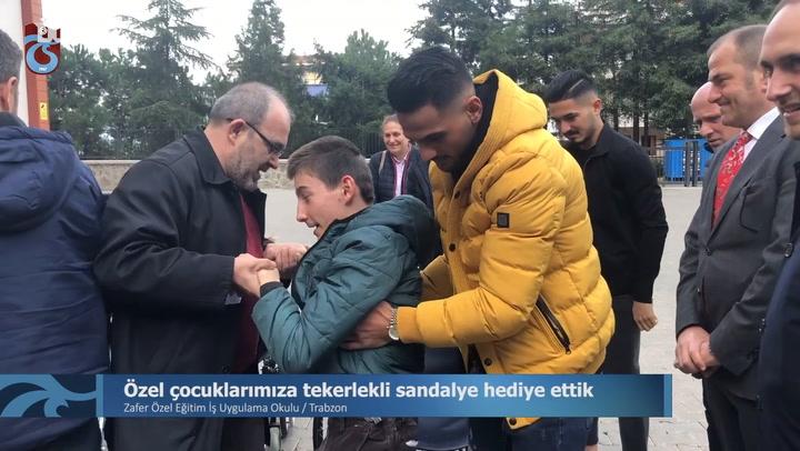 Trabzonspor Özel Çocuklara Tekerlekli Sandalye Hediye Etti