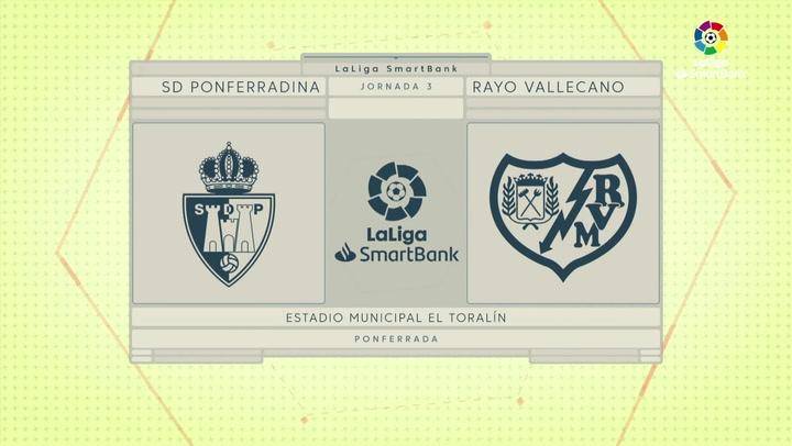 LaLiga SmartBank (J.3): Ponferradina 3-0 Rayo Vallecano