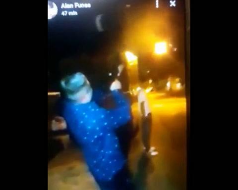Ordenan la captura del joven que festejo fin de año disparando una ametralladora al aire