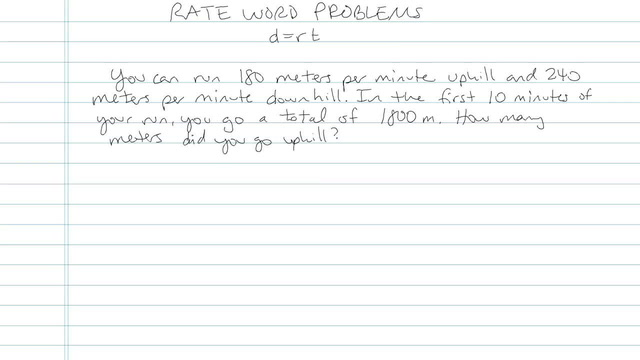 Rate Word Problems - Problem 5