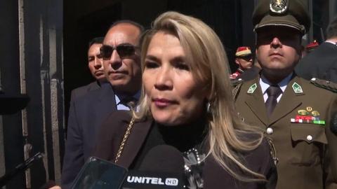 Presidenta interina de Bolivia confía en que este viernes se defina fecha de elecciones