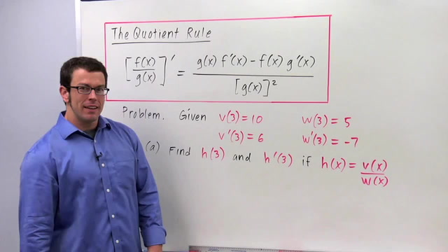 The Quotient Rule - Problem 3