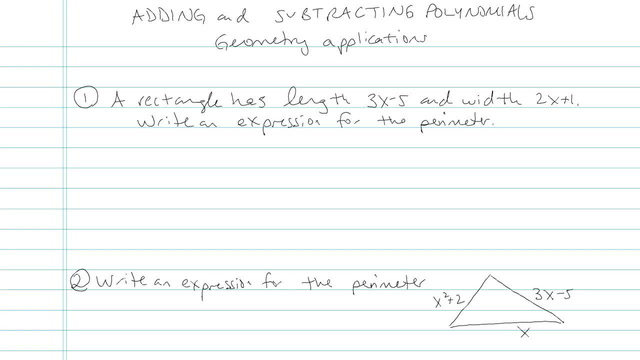 Adding and Subtracting Polynomials - Problem 5