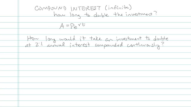 Compound Interest (Continuously) - Problem 5