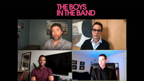 Jim Parsons, Michael Benjamin Washington & Brian Hutchinson on 'The Boys in the Band'