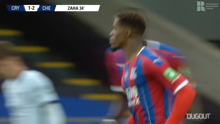 Wilfried Zaha's screamer vs Chelsea