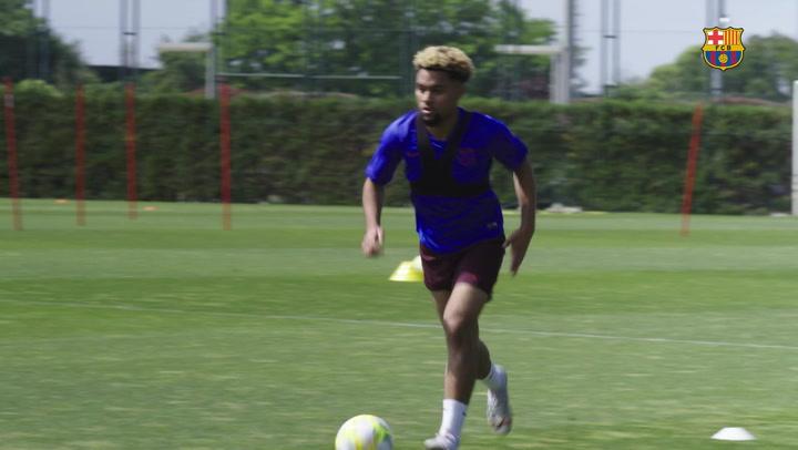 El Barça B continua con los entrenamientos individuales