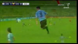 El espectacular gol de Nicolás Lodeiro en el Uruguay-Ecuador.