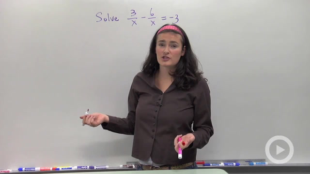 Solving Rational Equations with Like Denominators - Problem 1