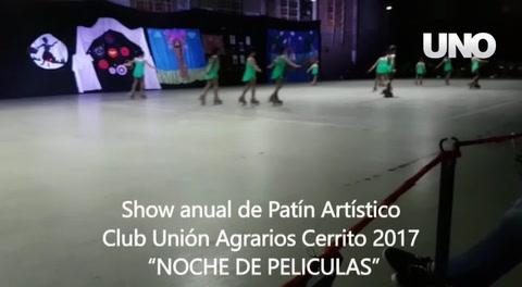 Se realizó el show anual de Patín Artístico en el club Unión Agrarios de Cerrito