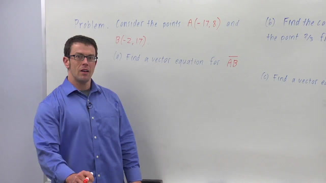The Vector Equation of a Line - Problem 3