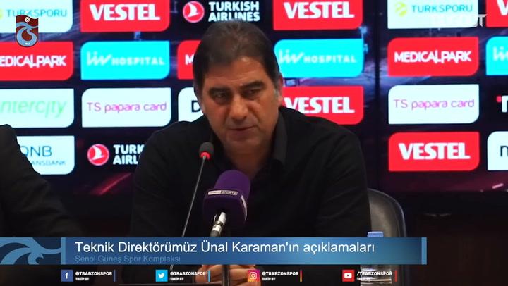 Ünal Karaman, Galatasaray maçının ardından konuştu