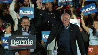 Senator Bernie Sanders hold rally at Springs Preserve Amphitheater