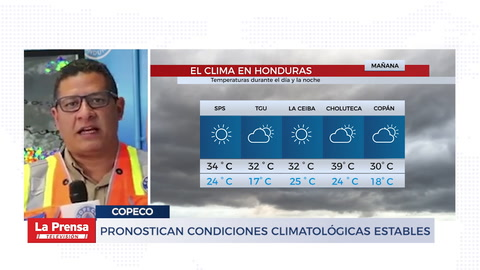 Pronostican condiciones climatológicas estables