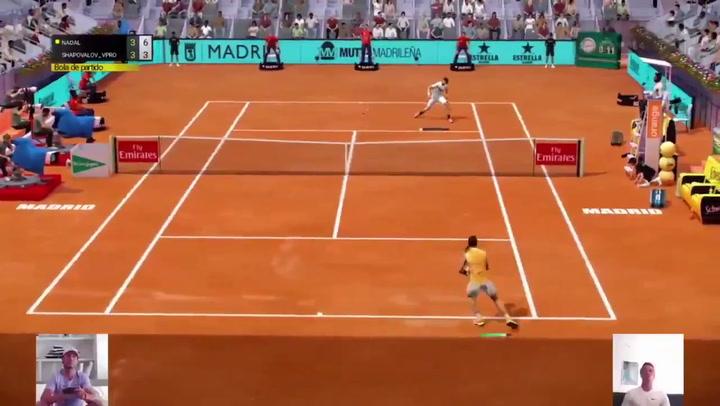 Rafa Nadal debuta con victoria en el Mutua Madrid Virtual ante Shapovalov