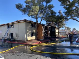 Fire at Las Vegas Apartment