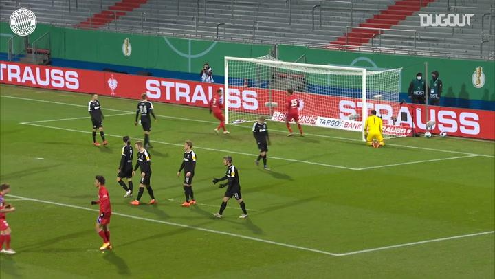 Leroy Sané's incredible free-kick vs Holstein Kiel