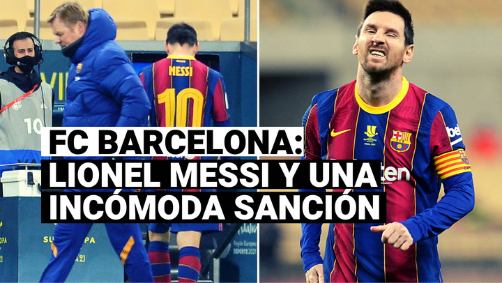 Conoce la sanción que deberá cumplir Lionel Messi tras la expulsión en la Supercopa